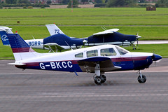 G-BKCC   Piper PA-28-180 Cherokee Archer [28-7405099] Staverton~G 07/08/2009 (raybarber2) Tags: 287405099 airportdata cn287405099 egbj flickr gbkcc planebase raybarber single ukcivil filed