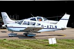 G-AZLN   Piper PA-28-180 Cherokee F [28-7105210] Staverton~G 07/08/2009 (raybarber2) Tags: 287105210 airportdata cn287105210 egbj flickr gazln planebase raybarber single ukcivil filed