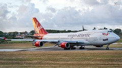 Virgin Atlantic | G-VROS | Boeing 747-443 | BGI (Terris Scott Photography) Tags: aircraft airplane aviation plane spotting nikon d750 tamron 70200mm f28 di vc usd g2 travel barbados jet jetliner virgin atlantic boeing 747 400 queen skies