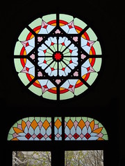 Stained glass window, Sirkeci station, Istanbul (Steve Hobson) Tags: stained glass window sirkeci station istanbul