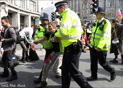 `2596 (roll the dice) Tags: london westminster westend w1 oxfordstreet police coppers arrest pc uniform streetphotography sad mad surreal people fashion helmet crowd busy pretty soft england urban unaware unknown hairy uk classic art portrait strangers candid canon tourism media tourists extinctionrebellion traffic sunny dirty protest nicked climate ecological rebel women lesbians lefties scotlandyard easter block activists protesters lights anger smile happy planet soap