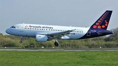 OO-SSA (AnDyMHoLdEn) Tags: brusselsairlines a319 lufthansagroup staralliance egcc airport manchester manchesterairport 05r