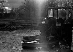 .: Le Tracteur dans l'ombre :. (K-Photographe) Tags: noiretblanc blackandwhite ilford hp5 35mm olympus d76