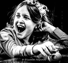 Day 108. (lizzieisdizzy) Tags: portrait child chromatic female laugh laughing natural pretty bow animated georgia blackandwhite blackwhite black monochrome mono monotone monochromatic chroma
