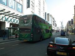 39401, Bristol, 12/04/19 (aecregent) Tags: bristol 120419 first firstbristol firstwestofengland scania n280ud gasbus biogasbus enviro400city 39401 yn17ohp 2 rear