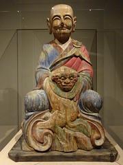 DSC03037 (Akieboy) Tags: korea bhadra arhat sculpture carving statue wood man male asia lacma art asianartspavilion