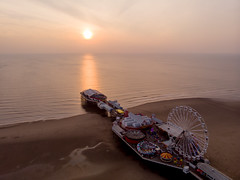 Blackpool Central Pier (Joe Hayhurst) Tags: blackpool dji drone lancashire mavic mavicair central pier sunset