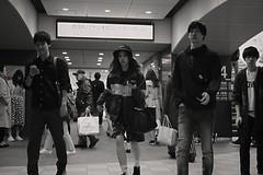 In the station (Bill Morgan) Tags: fujifilm fuji xpro2 35mm f2 bw jpeg acros alienskin exposurex4