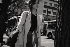 Bus stop (Bill Morgan) Tags: fujifilm fuji xpro2 35mm f2 bw jpeg acros alienskin exposurex4