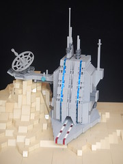 Communications Relay Tycho (donuts_ftw) Tags: lego moc space scifi base antennae leds