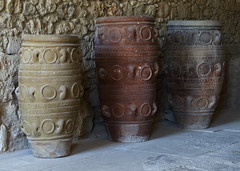 Storage Jars (Treflyn) Tags: large pottery storage jars jar knossos crete greece minos minoan