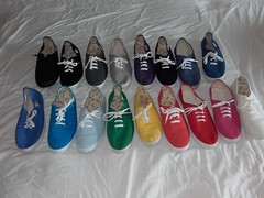 Colourful Spanish plimsolls / canvas sneakers. (eurimcoplimsoll) Tags: