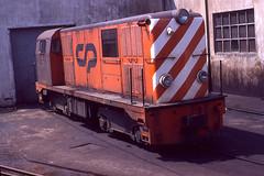 CP 9006, Porto Boavista, June 1979 (filhodaCP) Tags: linhadeguimarães linhadapovoa narrowgauge viametrica viaestreita metregauge metergauge portugalrailways cp cp9000 comboiosdeportugal caminhodeferro