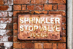 Sprinklers (EightBitTony) Tags: lincoln rust urban canon7d2 brickwall city metal iron brick lincolnshire april sign 2019 uk citycentre canon canon7dmarkii canon7dmark2 canon7dmk2 canon7dii canondslr canoneos canoneos7dmarkii canoneos7d2 canoneos7dii england unitedkingdom