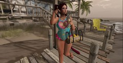Sun, Sea &.... (MrsSeren Resident) Tags: beach summer sand coast sun secondlife fashion kawaii cute colourful kitten neko kitteh cat
