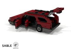Mercury Sable MkI Wagon (1986) (lego911) Tags: mercury ford motor company sable taurus fwd v6 wagon 1986 estate auto car moc model miniland lego lego911 ldd render cad povray usa america american afol aero