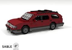 Mercury Sable MkI Wagon (1986) (lego911) Tags: mercury ford motor company sable taurus fwd v6 wagon 1986 estate auto car moc model miniland lego lego911 ldd render cad povray usa america american afol aero foitsop