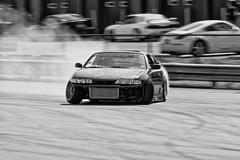 DSC_1414BW (Find The Apex) Tags: nolamotorsportspark nodrft drifting drift cars automotive automotivephotography nikon d800 nikond800 nissan 240sx nissan240sx s14
