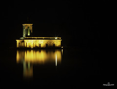 Night Time Reflections (JohnS87) Tags: night time reflections rutland water normanton church