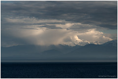 Hidden Depths (westcoastcaptures) Tags: ocean mountains water sky clouds drama dramaticsky pacific depths layers light sony sonya99ii minolta8020028apohsg mosaic stitched