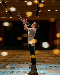 He plays solo! #barmitzvah #barmitzvahboy #mitzvahideas #trumpet #music (prizmaphoto) Tags: bar mitzvah boy pictures photos ideas photography photographer jewish celebration event prizmaphoto