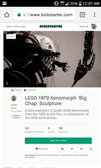 Kickstarter ANNOUNCEMENT! (Slick_Bricks) Tags: lego alien xenomorph afol moc aliens wip kickstarter fundraiser brickcon bricks space xeno extraterrestrial movie monster fox films disney portland