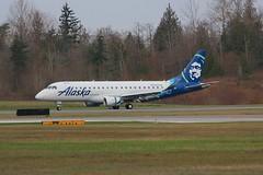 ERJ-175 N624QX Paine Field Seattle 24.04.19 (jonf45 - 5 million views -Thank you) Tags: snohomish county airport kpae paine field boeing alaska airlines embraer erj 175 erj175 n624qx airliner civil aircraft jet plane flight aviation