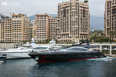 Black Legend - 50m - Overmarine (Raphaël Belly Photography) Tags: rb raphaël monaco raphael belly photographie photography yacht boat bateau superyacht my yachts ship ships vessel vessels sea motor mer m meters meter black legend 50m 50 overmarine noir nero red rouge mangusta 165e 165 e imo 9830551 mmsi 248310000