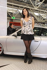 motorshow promoter (themax2) Tags: hostess bologna 2009 motorshow girl pantyhose nylon legs tights boots miniskirt
