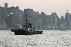 Tug boat arrives at the Ocean Terminal to assist with the departure of MS Star Pisces (Marcus Wong from Geelong) Tags: hongkong ferry maritime port harbour victoriaharbour water ocean sea boat ship vessel oceanterminal hongkong2019