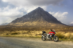 Buachaille Etive Mor (Andy Tee) Tags: honda cb500x scotland glencoe glen coe buachaille etive mor hdr canon photography mountains hills sky sun touring countryside beautiful great britain scenic