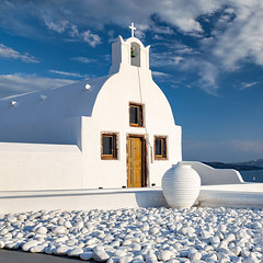 _MG_9880 - Orthodox churches of Santorini #4 (AlexDROP) Tags: 2017 europe greece santorini greek travel color city urban daylight belfry architecture orthodox church square canon6d ef241054lis best iconic famous mustsee picturesque postcard