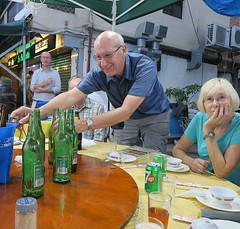 More beer anyone? (Jackie & Dennis) Tags: hongkong cheungchau hongkee restaurant morebeer