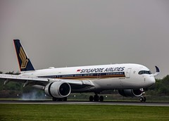 Singapore Airlines Airbus A350-941  9V-SMK EGCC Manchester Airport (msmithuk22) Tags: egccmanchesterairport airbusa350 singaporeairlines sia a350 airbus jet airport airline aircraft