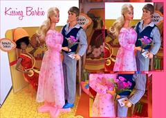 KISSING BARBIE (ModBarbieLover) Tags: kissing barbie 1979 doll mattel ken 1980 fashion plaza toy flowers bouquet loveletters shop