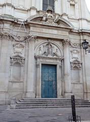 Lecce (Apulia-Italia). Vía Vittorio Emanuele II. Iglesia de Santa Irene. Portada (santi abella) Tags: lecce apulia puglia italia