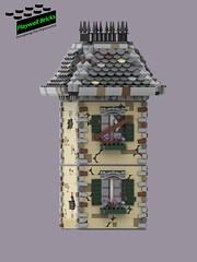 Haunted House WIP 4 (Playwell Bricks) Tags: lego legotechniques legoideas art design creativity architecture building hauntedhouse amusementpark
