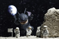 308. WE ARE NOT ALONE !!!! (xJohns) Tags: lego toys disney stitch macro