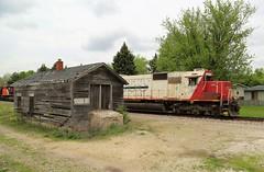 Friendly Wave (JayLev) Tags: soo cn train railroad depot genoa