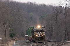 NS 23M @ Tipton, PA (Dan A. Davis) Tags: ns norfolksouthern freighttrain train railroad locomotive tipton pa pennsylvania middledivision