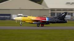 Hunter (Bernie Condon) Tags: hawker hunter raf royalairforce military warplane jet vintage preserved classic coldwar fighter bomber reconnaissance aircraft plane flying aviation