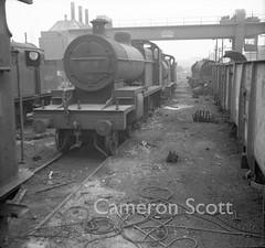 LMS 7F 2-8-0 53802 2-6-2T 40057 Doncaster Scrap (Camscott378) Tags: lms london midland scottish railway sdjr sd somerset dorset joint 52802 82 7f 2p 3f 4f 40057 57 280 262t doncaster scrap works 1960