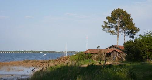 Marée haute et fort coefficient de 107, Jane de Boy, presqu'île du Cap Ferret, Bassin d'Arcachon, Gironde, Aquitaine, France.