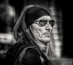 Dude (Andy J Newman) Tags: london street bandana bandw blackandwhite candid d500 extinction hair man nikon portrait protest rebellion shades england unitedkingdom