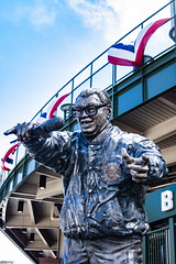 One....two....three.... (jfre81) Tags: chicago wrigley field harry caray statue sheffield waveland one two three take me out ballgame budweiser holy cow sports announcer wgn james fremont photography jfre81 canon rebel xs eos
