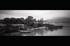 (Ah - Wei) Tags: minoltaps wide bw film adoxsilvermax taiwan boat