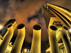 Blade Runner (VauGio) Tags: torino turin bladerunner ridleyscott notturno notte night olympus olympuspenf 7artisans75 fisheye filter skyscraper grattacielo lacittàmetropolitanaditorinovistadavoi