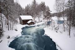 Myllykoski, Finland (Sunny Herzinger) Tags: mill juuma winter river finland water kuusamo ruka lapland northernostrobothnia