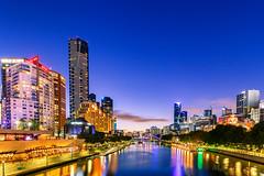 Yarra river skyline @ Melbourne