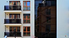 Asynchronous (Szymon Karkowski) Tags: outdoor explore architecture mirror glas widow windows balcony building silesian voivodeship gliwice poland nikon d7100